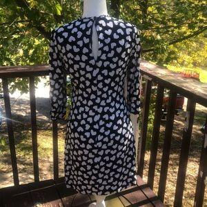 kate spade Dresses - Kate Spade Heart Design Dress Black White 8